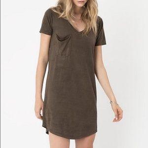 Z Supply Olive Green T-shirt Dress